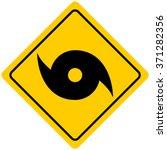 hurricane warning sign | Shutterstock .eps vector #371282356
