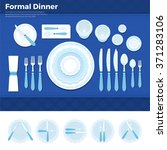 formal dinner vector flat... | Shutterstock .eps vector #371283106