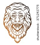 Golden Lion Head Door Knocker