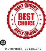 best choice stamp.vector. | Shutterstock .eps vector #371301142