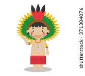 character from amazon region in ... | Shutterstock .eps vector #371304076
