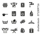 laundry icons. housework icons. | Shutterstock .eps vector #371309716