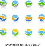 set of abstract vector icons... | Shutterstock .eps vector #37131010