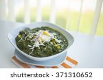 cottage cheese with spinach... | Shutterstock . vector #371310652