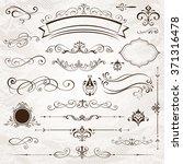 vintage frames elements | Shutterstock .eps vector #371316478