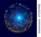 global digital mesh network ... | Shutterstock .eps vector #371319982