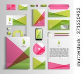 corporate identity template in... | Shutterstock .eps vector #371320432