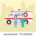 ambulance medical service first ... | Shutterstock .eps vector #371329402