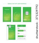 mobile chat interface design... | Shutterstock .eps vector #371329792
