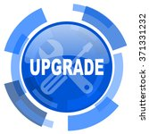 upgrade blue glossy circle... | Shutterstock . vector #371331232