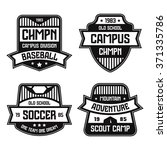 sport badges. graphic design... | Shutterstock .eps vector #371335786