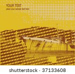 Retro Styled Industrial Boat Vector - stock vector