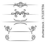 borders hand drawn element... | Shutterstock .eps vector #371337556