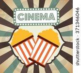 cinema entertainment design  | Shutterstock .eps vector #371346046