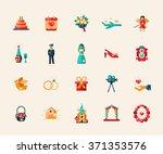 set of vector flat design... | Shutterstock .eps vector #371353576