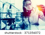 scientist with equipment and... | Shutterstock . vector #371356072