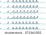 rowing boat team. step by steps....   Shutterstock .eps vector #371361502
