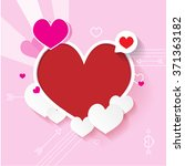 happy valentines day | Shutterstock .eps vector #371363182