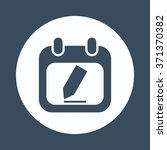 calendar icon icon | Shutterstock .eps vector #371370382