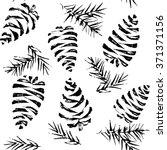 pine cones seamless pattern.... | Shutterstock .eps vector #371371156