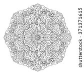 mandala doodle drawing. round... | Shutterstock .eps vector #371371615
