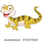 cute lizard posing isolated on... | Shutterstock .eps vector #371373565