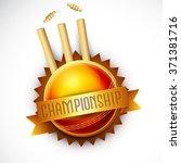creative badge design with... | Shutterstock .eps vector #371381716