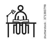 studying on desk  | Shutterstock .eps vector #371383798