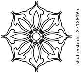 outline floral decoration ... | Shutterstock .eps vector #37138495