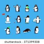set of animal penguin design... | Shutterstock .eps vector #371399308