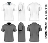 men's slim fitting short sleeve ... | Shutterstock .eps vector #371400148