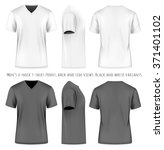 men's short sleeve v neck t... | Shutterstock .eps vector #371401102
