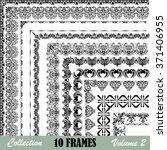 frames collection..design...   Shutterstock .eps vector #371406955