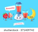 healthy breakfast. funny... | Shutterstock .eps vector #371409742