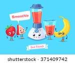 healthy breakfast. funny... | Shutterstock .eps vector #371409742