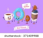 healthy breakfast. funny... | Shutterstock .eps vector #371409988