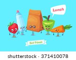 best friends. funny characters... | Shutterstock .eps vector #371410078