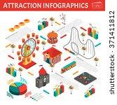 amusement park attractions... | Shutterstock .eps vector #371411812