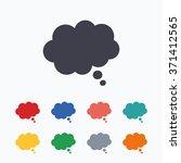 comic speech bubble sign icon.... | Shutterstock .eps vector #371412565