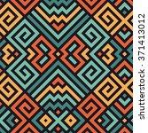 vector seamless maze pattern...   Shutterstock .eps vector #371413012