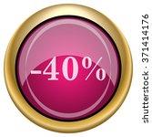40 percent discount icon....   Shutterstock .eps vector #371414176