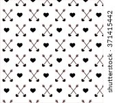 black arrows with hearts... | Shutterstock .eps vector #371415442