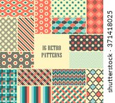 set of vintage vector seamless... | Shutterstock .eps vector #371418025
