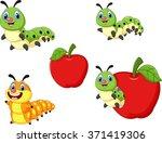 cartoon funny caterpillar... | Shutterstock . vector #371419306