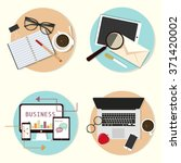 set of flat vector design... | Shutterstock .eps vector #371420002