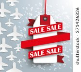 white paper jets with price... | Shutterstock .eps vector #371426326
