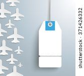 white paper jets with price... | Shutterstock .eps vector #371426332