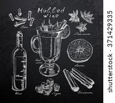 wine  mulled wine and spices... | Shutterstock .eps vector #371429335