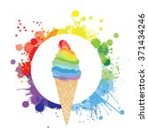 vector ice cream logo.... | Shutterstock .eps vector #371434246