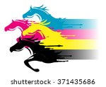 fast printing concept. four... | Shutterstock .eps vector #371435686